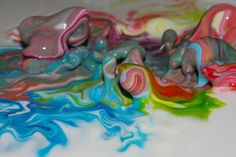 2 cups cornstarch 1 cup water, add food coloring