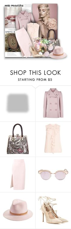 """""""FG1376"""" by axenta ❤ liked on Polyvore featuring Shabby Chic, RED Valentino, MSGM, Le Specs, rag & bone, Gianvito Rossi, spring2016 and axenta"""