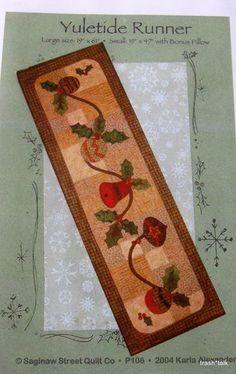 Christmas Applique Pattern Tablerunner Ornament Bell Yuletide Table Runner | eBay