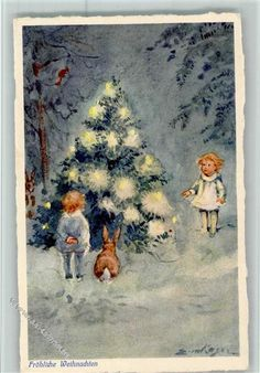 Image result for vintage german christmas cards #vintagegreetingcards