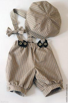 Одежда для мальчиков, ручной работы. Ярмарка Мастеров - ручная работа. Купить Нарядный комплект для мальчика: кепка, бабочка и шорты в клетку. Handmade.