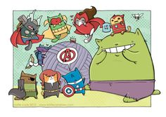 re-did the painting i posted several weeks ago in photoshop (thank goodness i scanned the lineart before i painted it!). you know what would do REALLY well, Marvel? an all cat avengers mini-series. i'm just saying. i have an idea for it.