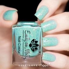 Emily de Molly Enchanted Forest Nail Polish (Pixie Garden Collection) Emily de Molly Enchanted Forest is a light seafoam green jelly polish with iridescent flakes and scattered holographic shimmer.