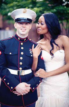 Bridal gown from #GlitzNash @GlitzNash (The Pink Bride) (Frozen Exposure Photography) (Military Wedding) http://www.glitznashville.com