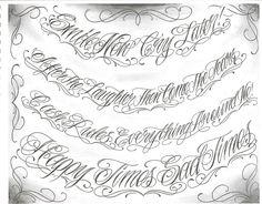 Abecedario de letras chicanas para tatuajes - Imagui