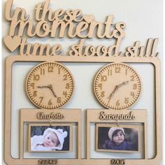 Laser Cut Wooden and Acrylic Decor. Gifts for all Occasions. - In This Moment In Time Frames-Various Sizes And Styles Laser Cutter Projects, Cnc Projects, Wooden Gifts, Wooden Decor, Laser Cut Mdf, Laser Engraving, Engraving Ideas, Time Stood Still, Diy Clock
