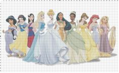 Large Size Disney Princess Cross Stitch Pattern by FrogwoodManor, $5.00