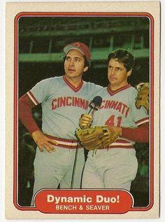 Johnny Bench and Tom Seaver Dynamic Duo Baseball Card Buy on Bonanza $1.95