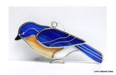 Colector de vidrio Bluebird sol por LinksStainedGlass en Etsy