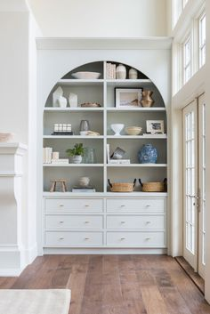 Home Interior Salas .Home Interior Salas My Living Room, Home And Living, Living Spaces, Alcove Ideas Living Room, Small Living, Apartment Decoration, Bookshelves Built In, Bookcases, Built In Shelves Living Room