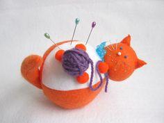 - Felt Pincushion Cat from Fat Cat Crafts