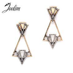 Modern style statement earrings Antique gold with rhinestone Not zara Zara  Jewelry Earrings Ear Earrings 0202e6f5abfc