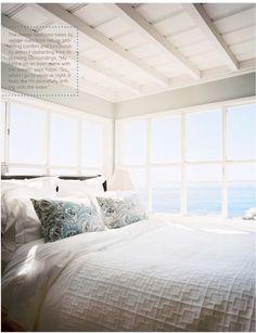 that view! // Tobi Tobin's Malibu Beach cottage