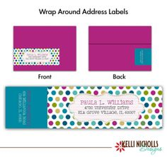 Under The Sea Birthday Wrap Around Address Label Pdf Template