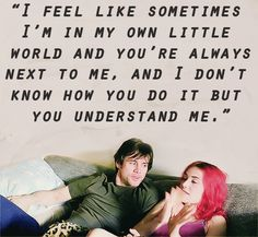 Eternal Sunshine of the Spotless Mind. Exactly what I think of my fella :)