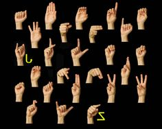 Practice fingerspelling! You can make it easier using slow speed and three letter words or really challenging using the faster speeds and longer words!