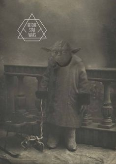 Yoda, 'Before Star Wars', Vintage Photos of Darth Vader And Co. - DesignTAXI.com