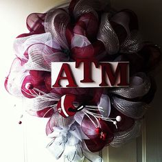 Texas Aggies wreath by All Meshed Up By Julie