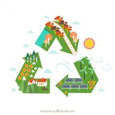 Recycle symbol Free Vector