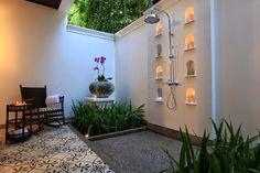 PASSPORT OUT: Resort Spotlight: 137 Pillars House- Outdoor shower at the 137 Pillars House, Chiang Mai, Thailand
