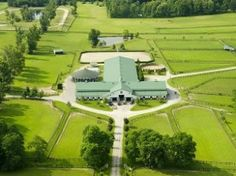 Would make a great indoor and out door dog park in the UK.   (Ohio Equine Farm For Sale at Auction)