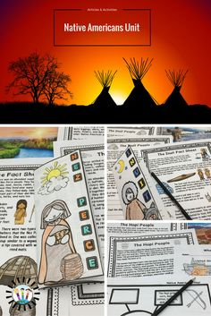 This COMPLETE Native Americans Resource has everything and more to learn about 6 different Native American tribes. It is PACKED full of informational articles, vocabulary, and fun student activities--NOW with two-sided trifold organizers that work perfectly in INBs--a total of 115 pages in all!