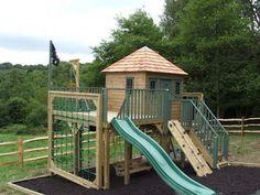 Childrens Playhouse With Platform -