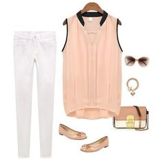 New Fashion Women Chiffon Shirt V-neck Splicing Irregular Hem Sleeveless Blouse Tops Pink/White