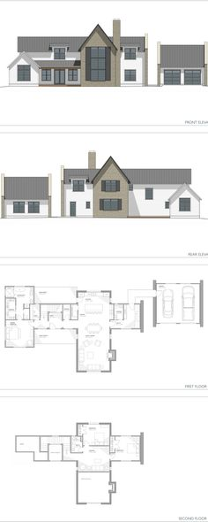 new house plans now available! The Aubrac, 3152 SF, two story floor plan. French Modern Farmhouse design. European countryside home inspired house plan.