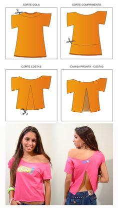 13 customizações de camisetas ~ Arte De Fazer | Decoração e Artesanato