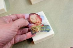 Decorate your bars of soap with a fun graphic and this easy sealing method
