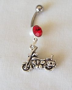 Motorcycle Dangle Belly Ring