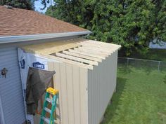Post with 7 votes and 30505 views. Shared by Unattached Lean-to Garden Shed Lean To Shed Plans, Wood Shed Plans, Free Shed Plans, Shed Building Plans, Casa Patio, Modern Shed, Large Sheds, Shed Kits, Storage Shed Plans