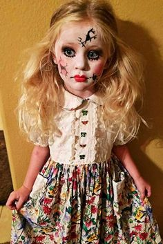 Cool and Horror Halloween Hairstyles for Girls ★ See more: http://lovehairstyles.com/horror-halloween-hairstyles-for-girls/
