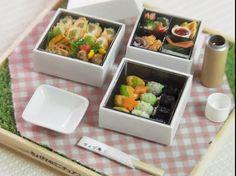 Bento, japanese miniature food, Chobikomini