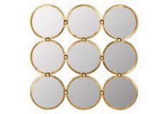 Multi Circle Mirror, Gold   Decor   Homeware