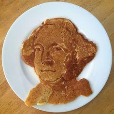 George is 283. #georgewashington #president #usa #pancakeart #hedcakes #stevehedberg