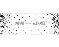 Personalized Black & White Dotted Table Runner (Multiple Sizes Available)