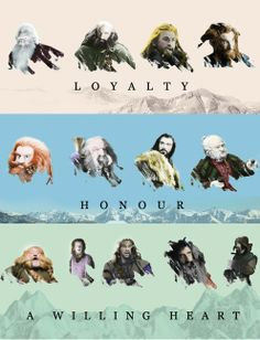 Loyalty, honor, a willing heart. #Durin