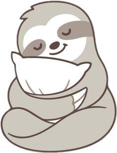 Cute sleepy sloth hugging pillow Art Print by Irmirx - X-Small Cute Baby Sloths, Cute Sloth, Baby Otters, Cute Disney Wallpaper, Cute Cartoon Wallpapers, Cute Animal Drawings, Cute Drawings, Sloth Drawing, My Spirit Animal
