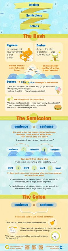 Dashes, Semicolons and Colons