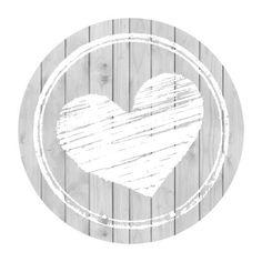 Cœur gris et blanc.