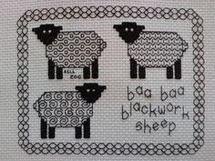 Baa Baa Blackwork Sheep