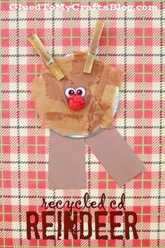 """""""R"""" is for Reindeer - Recycled CD Christmas Kid Craft Idea"""