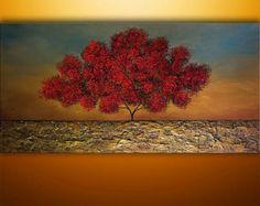 Bienvenido a nuestro estudio --------------------   Pintado a mano moderna pintura abstracta Original por Gabriela y Catalin!  ----------------------------------------------------------------------------  Esta obra se ofrece como una orden de Comisión.  Trabajos a medida tendrá 4 días hábiles deberá volver a crear. Sienta por favor libre de preguntarme Cuánto tardará su pedido personalizado.  ------------------------------------------------------------------------------  Título: Verano…