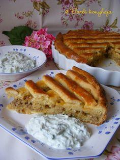 Barbi konyhája: Húsos burgonyás pite Hungarian Recipes, Tart Recipes, Quiche, French Toast, Grilling, Pizza, Lemon, Food And Drink, Fish