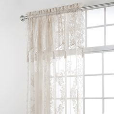 Kitchen Cafe Tiers Lace Curtain Chest Half Divider Panel Embroidery Blinds White