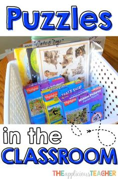 Puzzles in the Classroom Great ideas on how to transform jigsaw puzzles into engaging Word Work activities!
