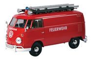 Volkswagen Type 2 T1 Bus Fire Van 1/24 Scale Diecast Model By Motormax 79564