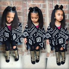 Team too much!I love this look Cute Kids Fashion, Little Girl Fashion, Black Kids Fashion, Beautiful Babies, Beautiful Children, The Maxx, Baby Girl Hairstyles, My Hairstyle, Pretty Baby